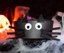 Halloween black cat headband