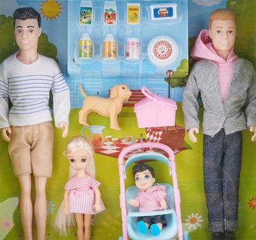 Kmart same-sex family doll sets