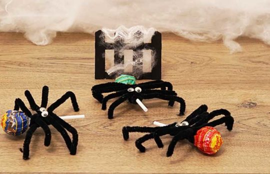 Halloween pipe cleaner spider