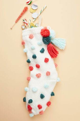 Anthropologie Christmas Stocking