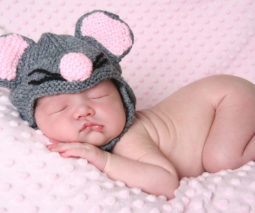 Baby dressed as a mouse