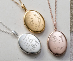 Engraved lockst - gold, silver and rose gold