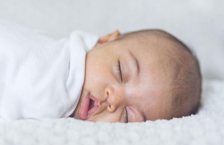 Newborn asleep