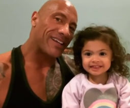 The Rock with daughter Tiana