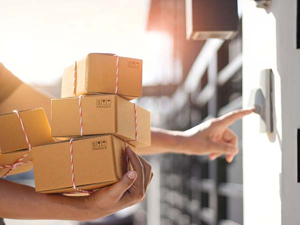 Delivery of packages - online shopping