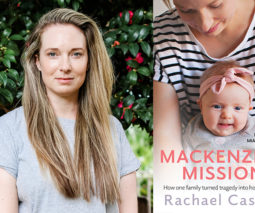 Author Rachael Casella and her book Mackenzie's Mission