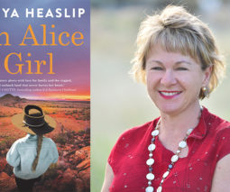 Author Tanya Heaslip and her book An Alice Girl