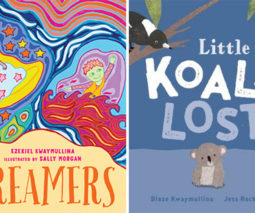Book covers Dreamers and Koala Lost - feature