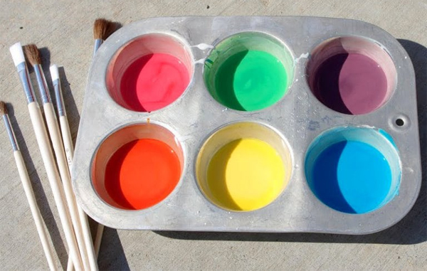 DIY homemade chalk paint