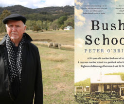 Author Peter O Brien and his book Bush School