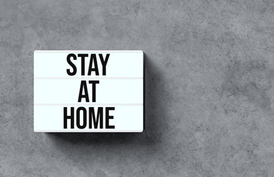 Stay at home lightbox sign - feature
