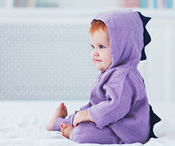 Redhead baby dress up dinosaur costume - thumbnail