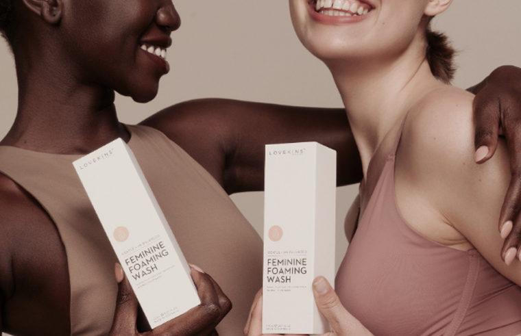 Lovekins products: Feminine products range