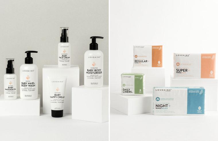 Lovekins products: Baby Skincare and Feminine Hygiene range