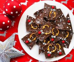 Christmas reindeer chocolate bark recipe