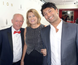 Author Susanne Brierley with her husband and son Saroo