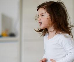Cranky toddler girl