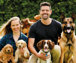 Jen and Ryan Tate with their dogs